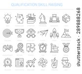 simple linear icons in a modern ...   Shutterstock .eps vector #289888268
