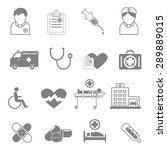 vector icons and symbols... | Shutterstock .eps vector #289889015