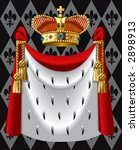 vector image of the gold crown... | Shutterstock .eps vector #2898913
