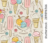 background with  ice cream and...   Shutterstock .eps vector #289896566