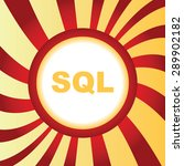 yellow icon with text sql  in...