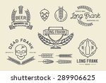 Vector Brewery Labels And...