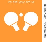 table tennis icon. flat design... | Shutterstock .eps vector #289923128