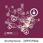 social network with dot... | Shutterstock .eps vector #289929866