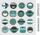 vector set of retro vintage... | Shutterstock .eps vector #289932122