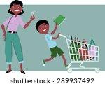 cute cartoon mother holding... | Shutterstock .eps vector #289937492