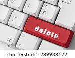 computer keyboard with red key... | Shutterstock . vector #289938122