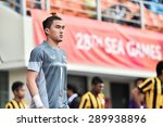 Small photo of BISHAN,SINGAPORE-JUNE4:Chanin Sae-Eae of Thailand in action during the 28th SEA Games Singapore 2015 match between Thailand and Malaysia at Bishan Stadium on JUNE4 2015 in,SINGAPORE
