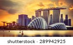 Singapore Skyline At Sunset...