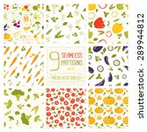 9 vegetables seamless pattern... | Shutterstock .eps vector #289944812