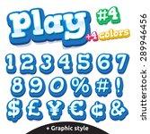 children video game letters.... | Shutterstock .eps vector #289946456