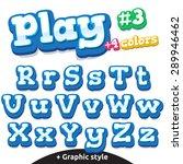 children video game letters.... | Shutterstock .eps vector #289946462