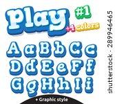 children video game letters.... | Shutterstock .eps vector #289946465
