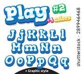 children video game letters.... | Shutterstock .eps vector #289946468