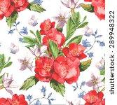 vintage seamless watercolor... | Shutterstock .eps vector #289948322