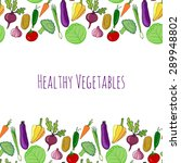 vegetable hand drawn colorful... | Shutterstock .eps vector #289948802