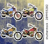 pop art stickers set. hand... | Shutterstock .eps vector #289955282