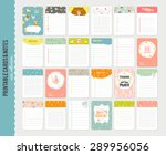 big set of romantic and cute... | Shutterstock .eps vector #289956056