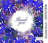 watercolor vector thank you... | Shutterstock .eps vector #289957898