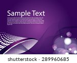 beautiful abstract purple... | Shutterstock .eps vector #289960685