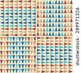 retro pattern of geometric... | Shutterstock .eps vector #289971326