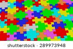 multiple colored completed... | Shutterstock . vector #289973948