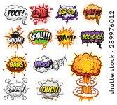 set of comics speech and... | Shutterstock .eps vector #289976012
