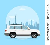 picture of a jeep in front of a ... | Shutterstock .eps vector #289977176