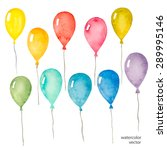 Set Of Colorful Balloons...