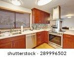 well kept kitchen with hardwood ... | Shutterstock . vector #289996502