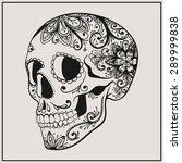 vector black tattoo sugar... | Shutterstock .eps vector #289999838