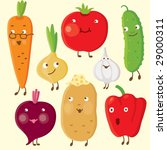 vegetables | Shutterstock .eps vector #29000311