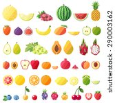 big fruit vector set. modern... | Shutterstock .eps vector #290003162