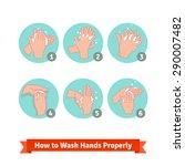 hands washing medical...   Shutterstock .eps vector #290007482