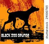 black dog grunge | Shutterstock .eps vector #29000785