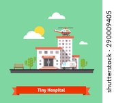 hospital flat vector... | Shutterstock .eps vector #290009405