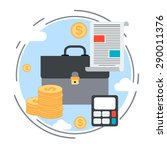 business portfolio flat design... | Shutterstock .eps vector #290011376