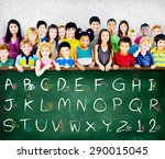 english alphabet letters number ... | Shutterstock . vector #290015045
