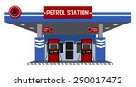 petrol station with pump fuel | Shutterstock .eps vector #290017472