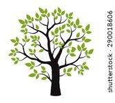 color tree. vector illustration. | Shutterstock .eps vector #290018606