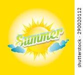 beautiful summer illustrations .... | Shutterstock .eps vector #290020112