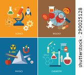 science concept  physics ... | Shutterstock .eps vector #290025128