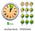 vector clocks. all time phase.... | Shutterstock .eps vector #29002660