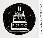 wedding cake doodle | Shutterstock .eps vector #290027366