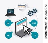 software digital design  vector ... | Shutterstock .eps vector #290030672