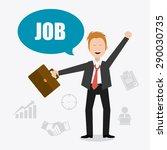 job digital design  vector...   Shutterstock .eps vector #290030735