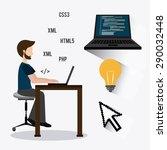 software digital design  vector ...   Shutterstock .eps vector #290032448