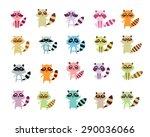 cute raccoon vector collection | Shutterstock .eps vector #290036066