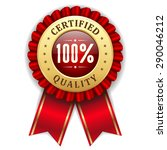 gold 100 percent certified... | Shutterstock .eps vector #290046212