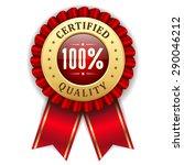 gold 100 percent certified... | Shutterstock .eps vector #290046212